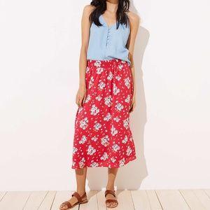 NWT Loft floral maxi skirt